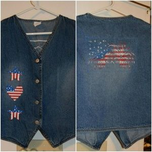 Jackets & Blazers - *3 for $25* Vintage 4th of July Memorial Day Vest